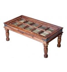 Mesa de centro de madera de palisandro estilo oriental - SAEB