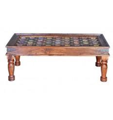 Mesa de centro de madera de palisandro estilo oriental - CHIA