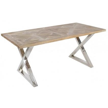 Mesa de Comedor moderna de madera y acero - PARMA