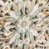 Mesita de noche vintage blanca de Garpe - LUCENA