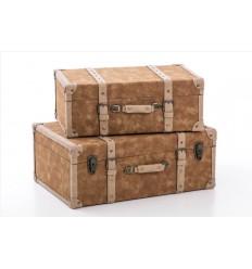 Set de dos baúles de polipiel - OCHENTA
