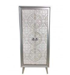 Armario blanco y plata estilo oriental - AGRA