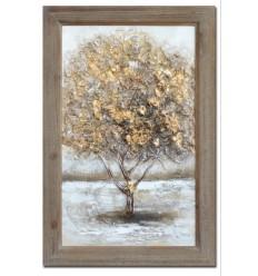 Cuadro árbol en colores cálidos - OTOÑO