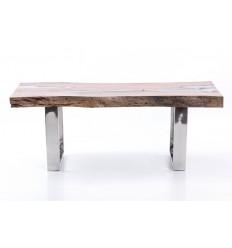 Mesa de centro de madera y aluminio - WOOD