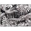Cuadro blanco y negro hojas mensaje - WILD SPIRIT