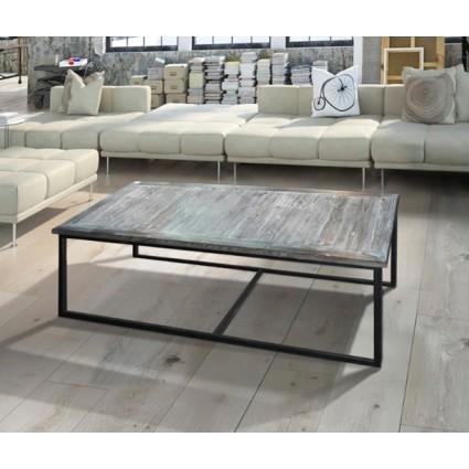 Mesa de centro estilo antiguo gris - LECCO
