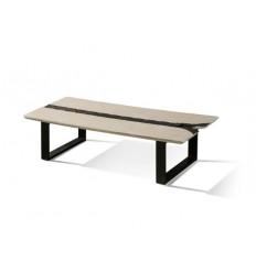 Mesa de centro estilo industrial blanca y negra - ZIG ZAG