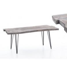 Mesa de centro estilo rústico de madera - TREE