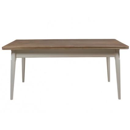 Mesa de comedor vintage blanca madera - AGADIR