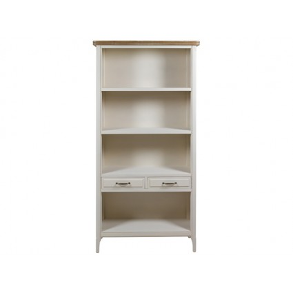 Estantería vintage madera blanca cuatro baldas - AGADIR