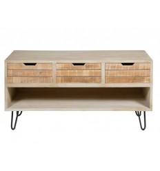 Mueble televisión estilo rústico envejecido madera - BERGEN