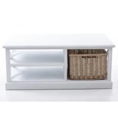 Mesa de centro estilo provenzal blanca - MIMBRE