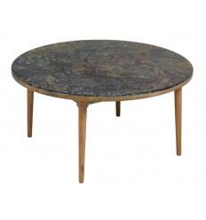 Mesa de centro redonda estilo vintage - WOODY