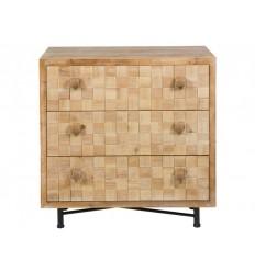 Cómoda de madera envejecida tres cajones - CARRÉ