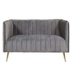 Sofá de tela suave gris dos plazas- ART