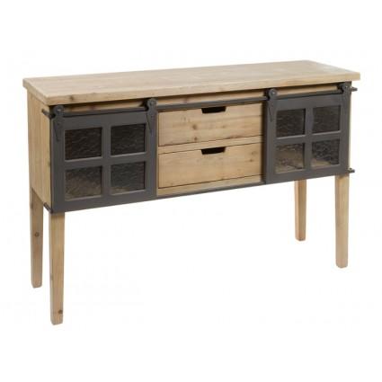 Consola de estilo de industrial madera y hierro - FABRIC