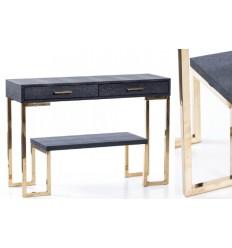 Consola negro y dorado dos cajones - PIXI