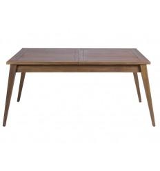 Mesa de comedor estilo colonial de madera extensible - AMARA