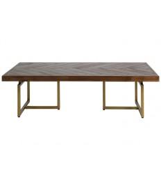 Mesa de centro madera y latón color oscuro - BRUNO