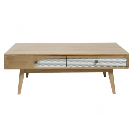 Mesa de centro nórdica madera cuatro cajones - BLUE