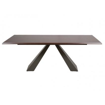 Mesa de comedor moderna color oscuro - CATHI