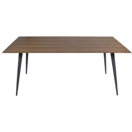 Mesa de comedor de estilo nórdico madera y acero - DANICA