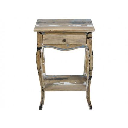 Mesita de noche de estilo antiguo madera decapada - ANTIC