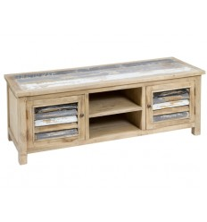 Mueble de televisión estilo antiguo madera decapada - ANTIC