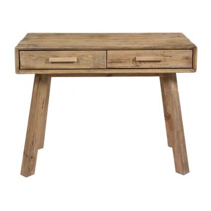 Consola recibidor estilo rústico de madera reciclada - BUNTA