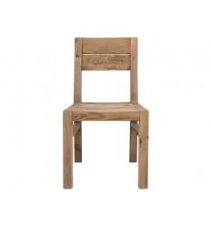Silla de estilo rústico de madera de pino reciclada - BUNTA