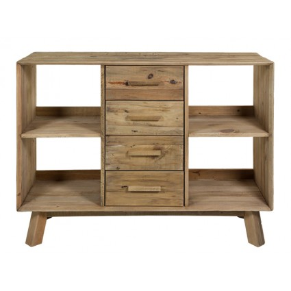 Estantería estilo rústico de madera reciclada - BUNTA