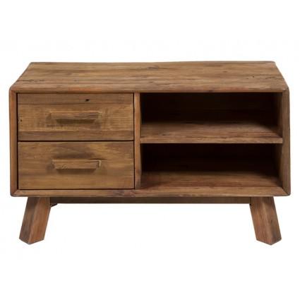 Mesa de televisión pequeña estilo rústico de madera reciclada - BUNTA