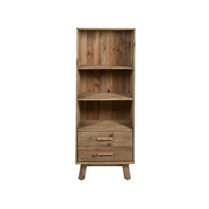 Estantería alta estilo rústico de madera reciclada - BUNTA