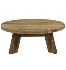 Mesa de centro redonda estilo rústico madera reciclada - BUNTA