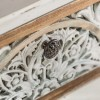 Consola de estilo colonial madera de abeto dos cajones - CALCUTA