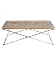 Mesa de centro estilo industrial de madera y acero - PARMA