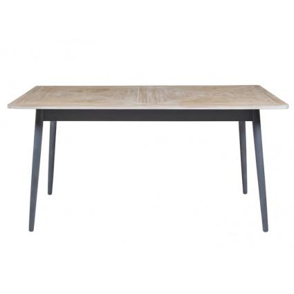 Mesa de comedor de estilo industrial madera y hierro - QUEENS
