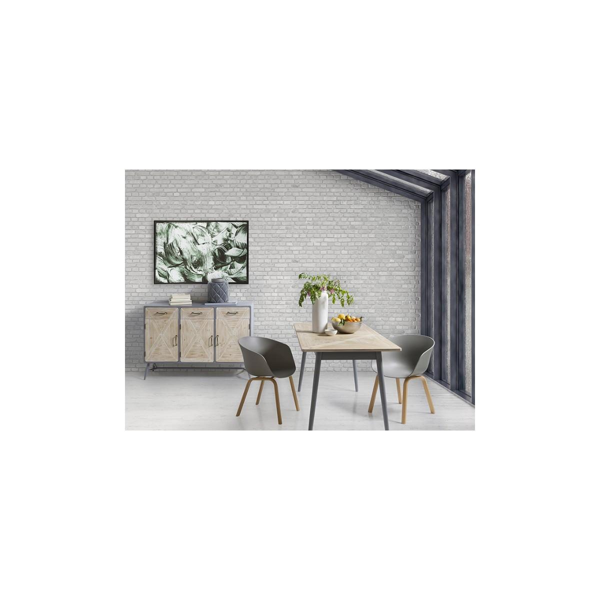 Mesa de comedor de estilo industrial madera y hierro queens for Mesa de comedor de estilo industrial