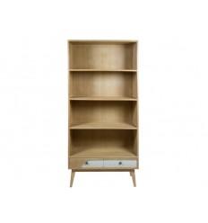 Estantería librería de estilo nórdico madera y blanco - BLUE