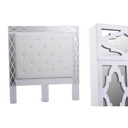 Cabecero de estilo arábico blanco y plateado cama 150- ARABIA