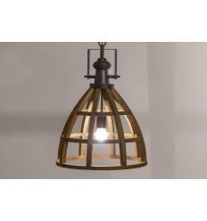 Lámpara de techo de estilo industrial madera - BIRD