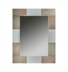 Espejo marco blanco y madera - COMBI