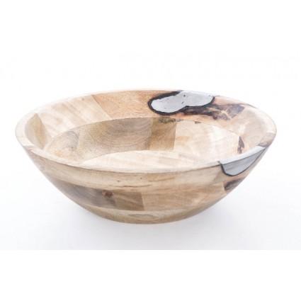 Centro de mesa redondo de madera - ROS