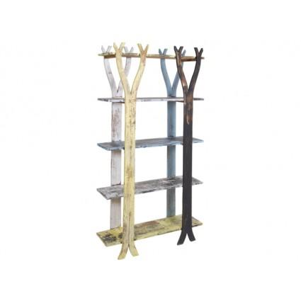Estantería librería madera envejecida cuatro baldas - SOLO