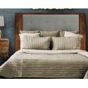 Cabecero estilo industrial madera y tapizado gris claro 180 - DRESDE