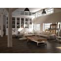 Mesa de centro rústica madera y acero - MILENIA