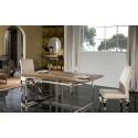 Mesa de comedor rústica madera y acero - MILENIA