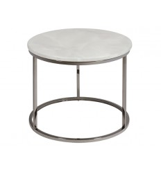 Mesa auxiliar estilo moderno redonda mármol - GLORY