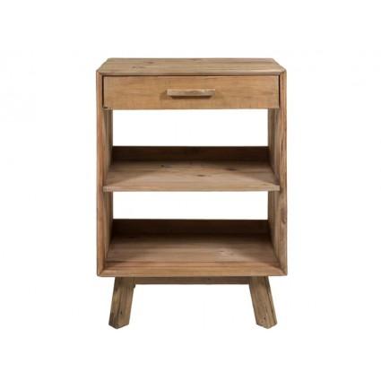 Mesa auxiliar estilo rústico madera reciclada -BUNTA