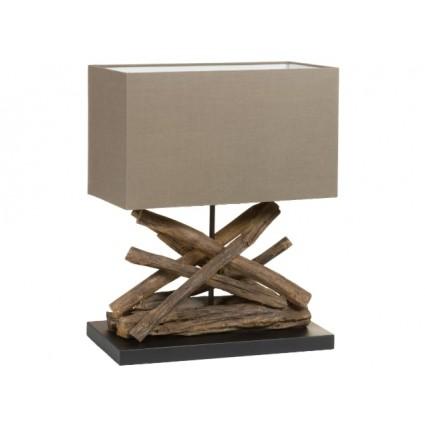 Lámpara sobremesa troncos madera color topo - LINA